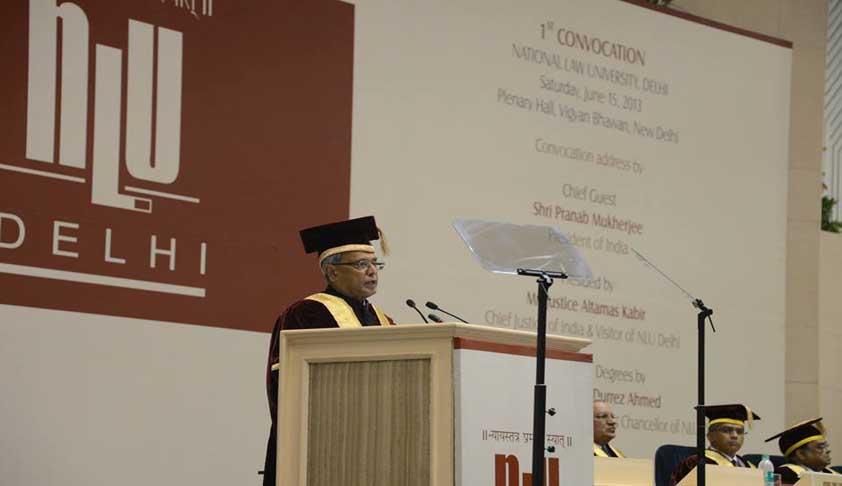 NLU-Delhi holds First Convocation; President Pranab Mukherjee delivers convocation address