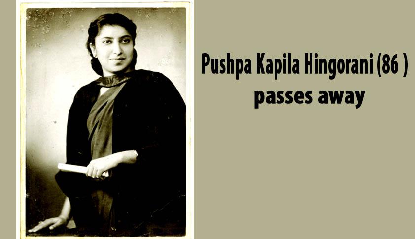 Pushpa Kapila Hingorani, India's pioneer of PILs, passes away