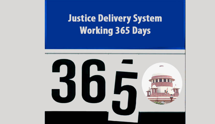 Justice Delivery System Working 365 Days; Pressing Needs of the Indian Judiciary