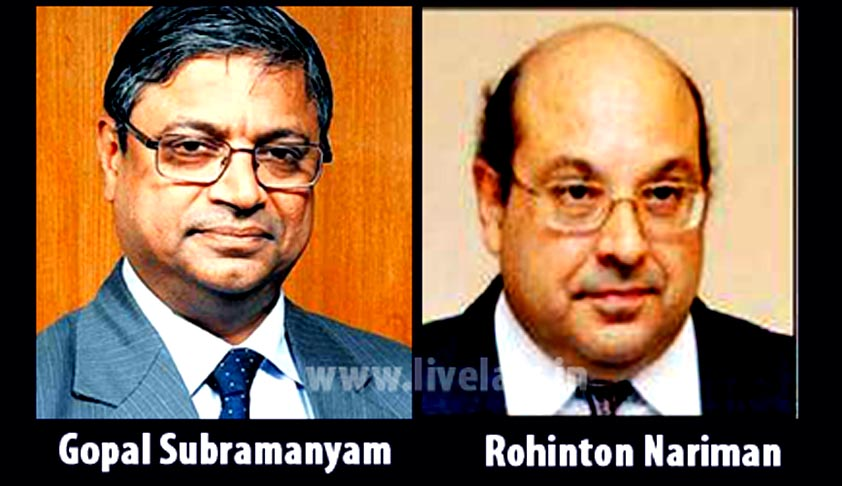 Gopal Subramaniam and RF Nariman to be Judges of Supreme Court of India.  GS Likely to be CJI in 2022