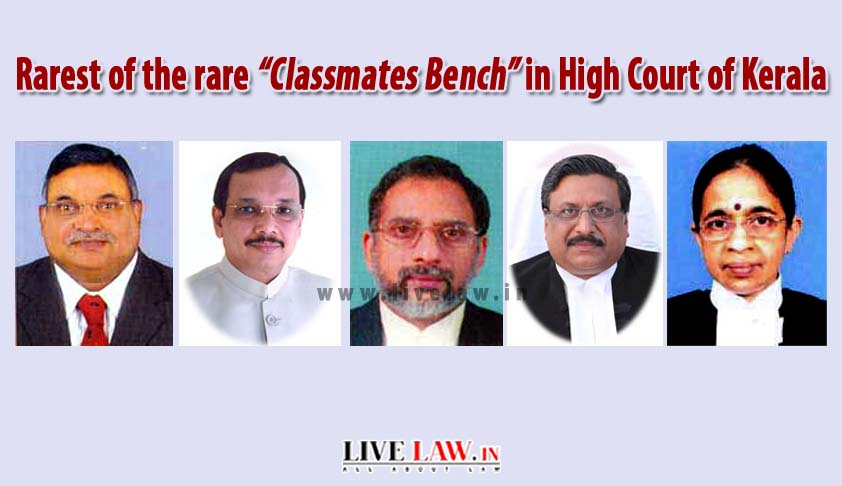 "Rarest of the rare ""Classmates Bench"" in High Court of Kerala"