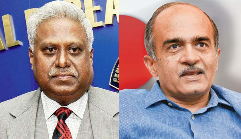 Prashant Bhushan files criminal complaint against Ranjit Sinha, alleges criminal misconduct