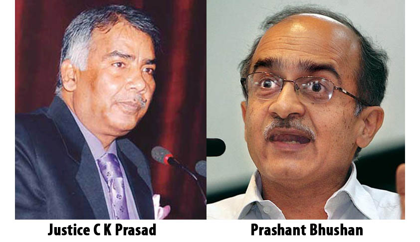 SC refuses to entertain Prashant Bhushan's PIL alleging abuse of office by Justice C.K. Prasad; says the aggrieved can file review or curative petition