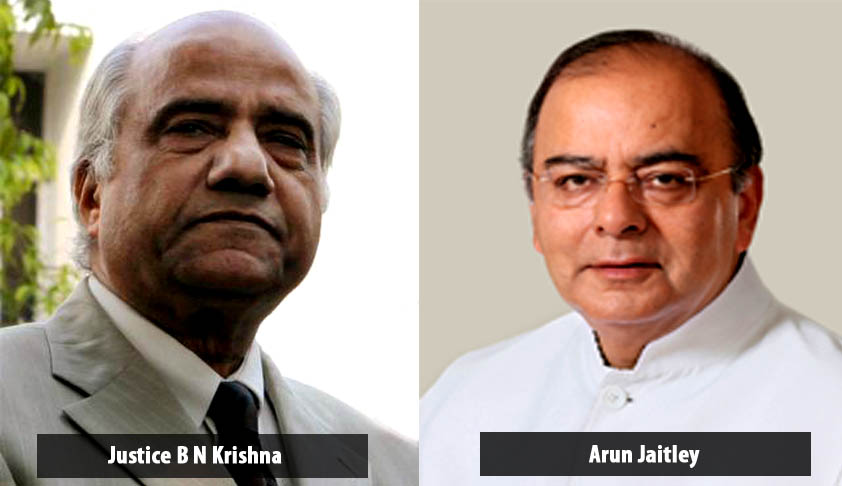 Justice B.N. Srikrishna and Finance Minister Arun Jaitley to work jointly on financial reforms