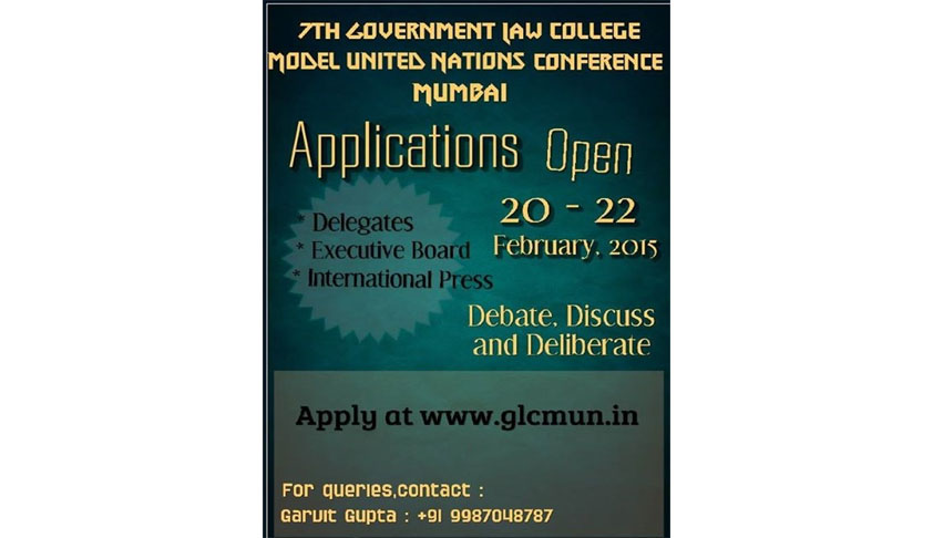 Government Law College presents the 7th GLC MUN 2015