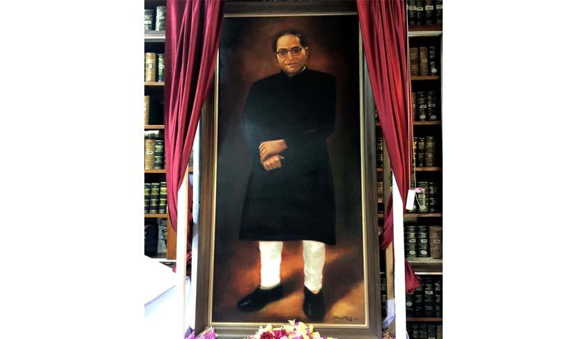 Dr. B.R. Ambedkar's portrait unveiled in SCBA Library-I; Mahatma Gandhi's grandson expresses retrospective dream of Dr. Ambedkar being the Vice-President of India