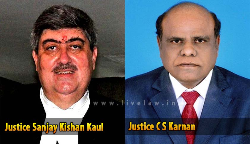 Supreme Court stays Justice Karnan's order initiating contempt proceedings against Madras High Court CJ, Sanjay Kaul