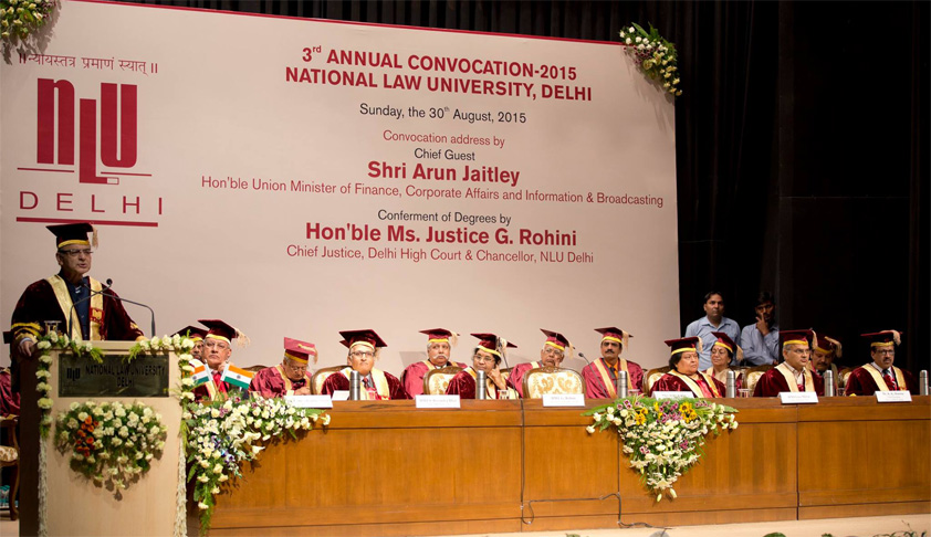 Legal academics faced massive manpower crunch; Arun Jaitley at NLU Delhi Third Annual Convocation