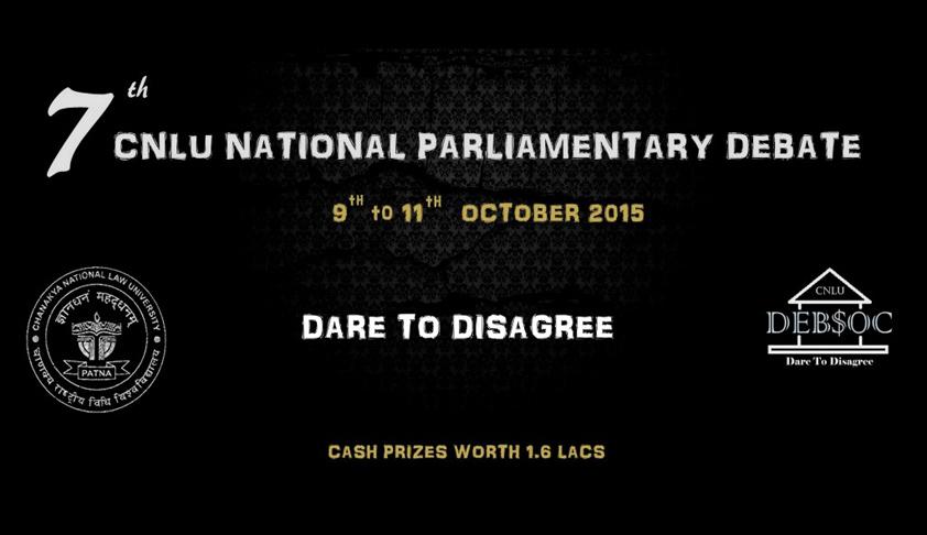 7th CNLU National Parliamentary Debate, 2015