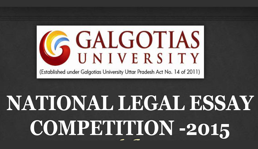 National Legal Essay Competition at Galgotias University