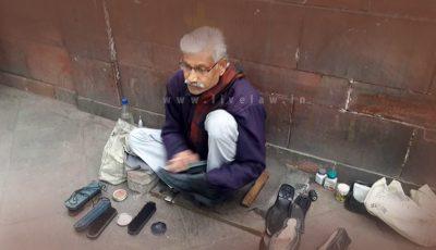 Radhe Shyam - Shoe polisher infront of Supreme Court