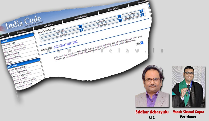 State is duty bound to provide easy access to up-to-date Legal Information to its citizens; CIC pulls up Legislative Department in a complaint by Law Student [Read Order]