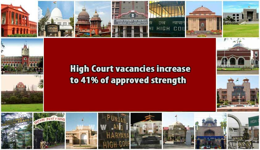 High Court vacancies increase to 41% of approved strength