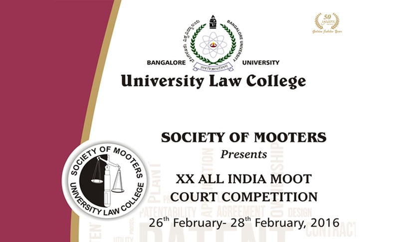 ULC Bangalores 20th All India Moot Court Competition, February 2016