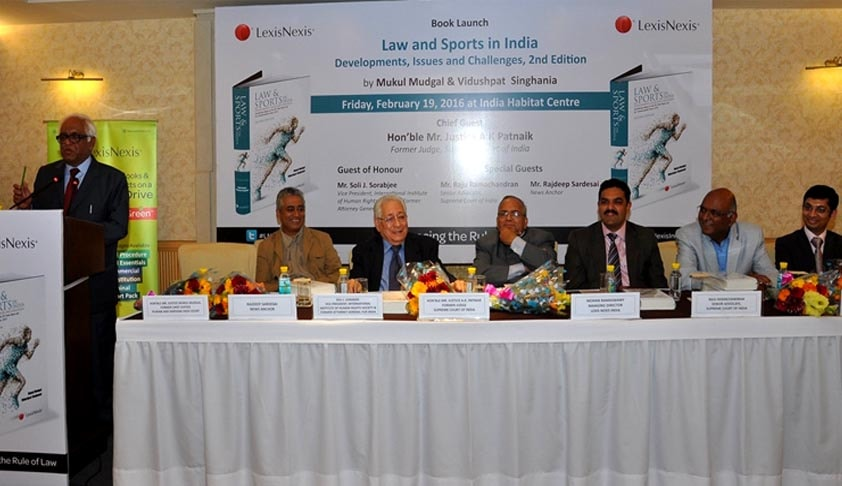 "Justice A K Patnaik launches LexisNexis'  book 'Law and Sports in India"" by Justice Mukul Mudgal & Vidushpat Singhania"