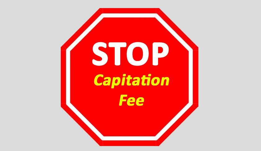 Check on Capitation Fee by Colleges