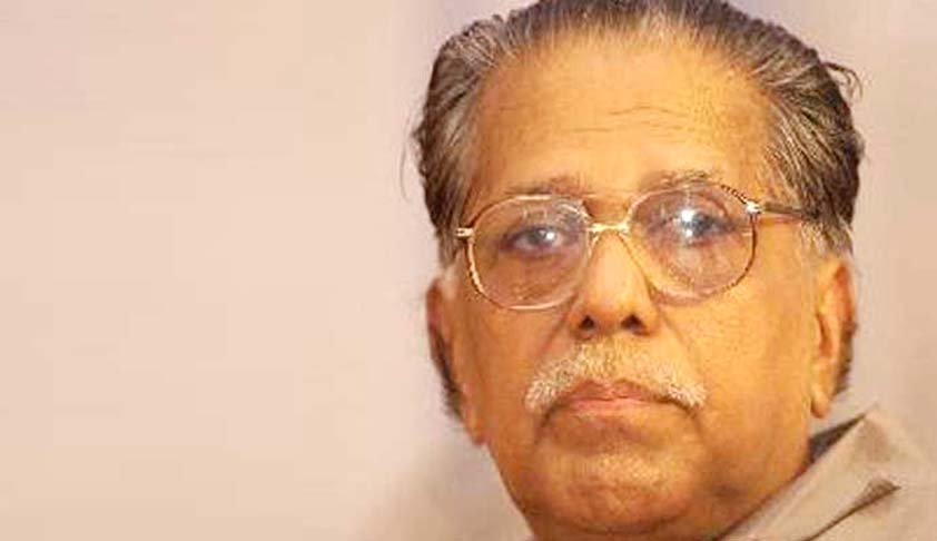 Sr. Advocate M.K Damodaran not to assume the post of Legal Advisor to Kerala CM