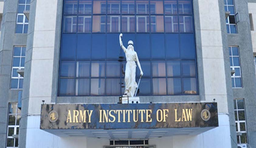 Army Institute of Law Application Form: BA. LLB. 2017-2018