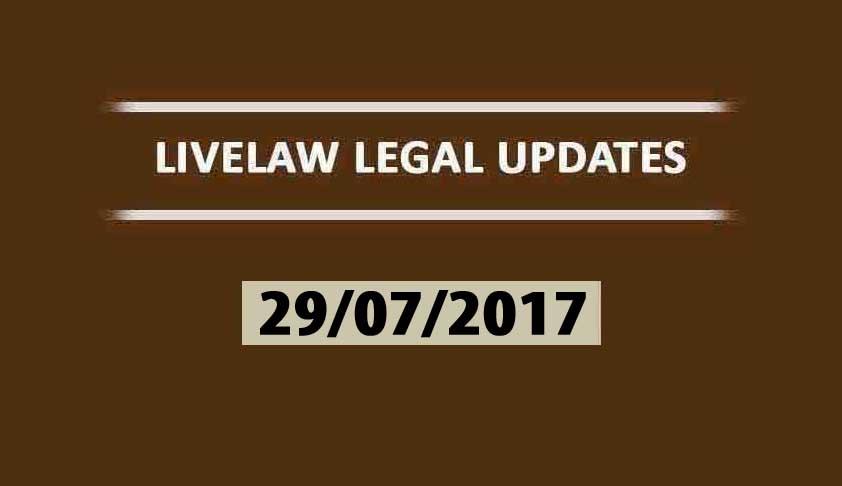 LIVELAW LEGAL UPDATES (29/01/2017)