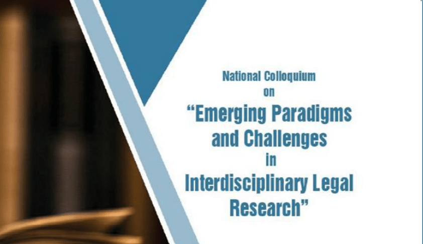 3rd IIT Kharagpur's National Colloquium on Emerging Paradigms and Challenges in Interdisciplinary Legal Research