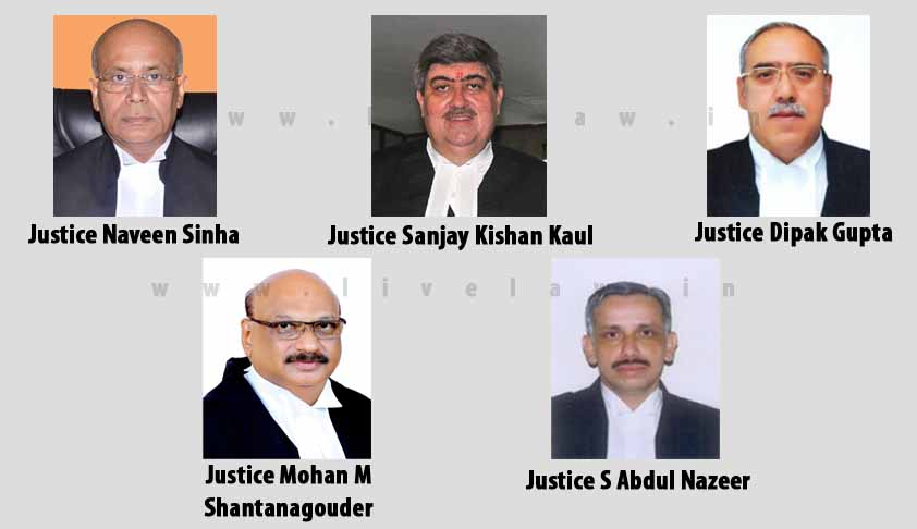 Collegium Recommends Four HC Chief Justices And A HC Judge To Supreme Court, No Women Judges In The List