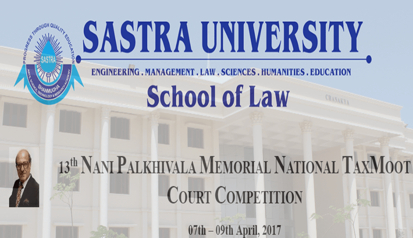 13th Nani Palkhivala Memorial National Tax Moot Court Competition, 2017
