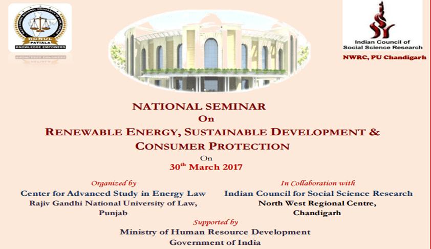 National Seminar on Renewable Energy, Sustainable Development & Consumer Protection