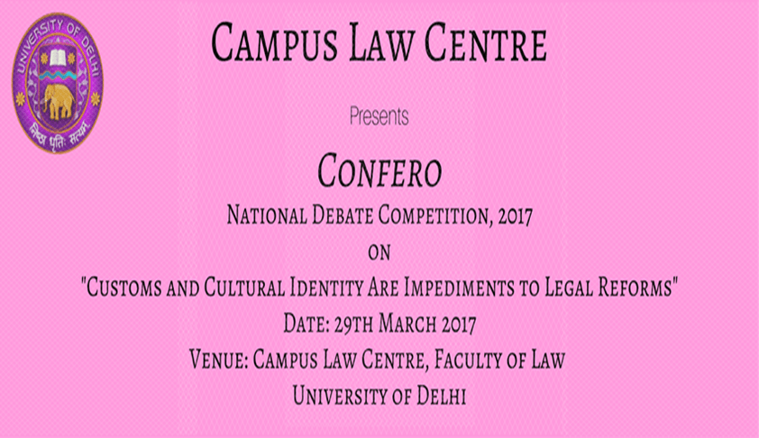 National Debate Competition, 2017 on Customs and Cultural Identity Are Impediments to Legal Reforms
