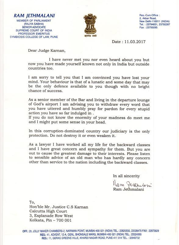 Beg Pardon For Your Stupid Actions Ram Jethmalani Tells