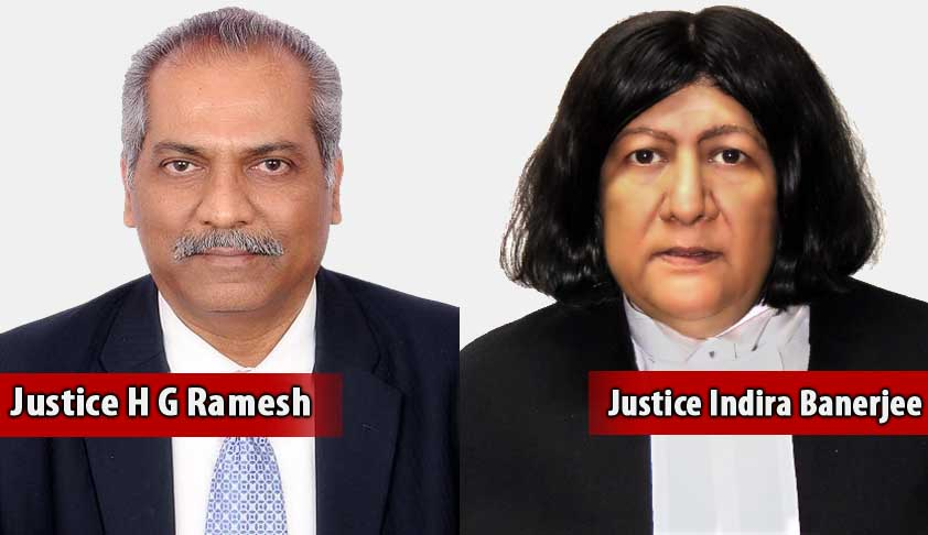 Supersession: Justice HG Ramesh Declines Offer Of Madras Chief Justice-ship, Justice Indira Banerjee New Madras CJ
