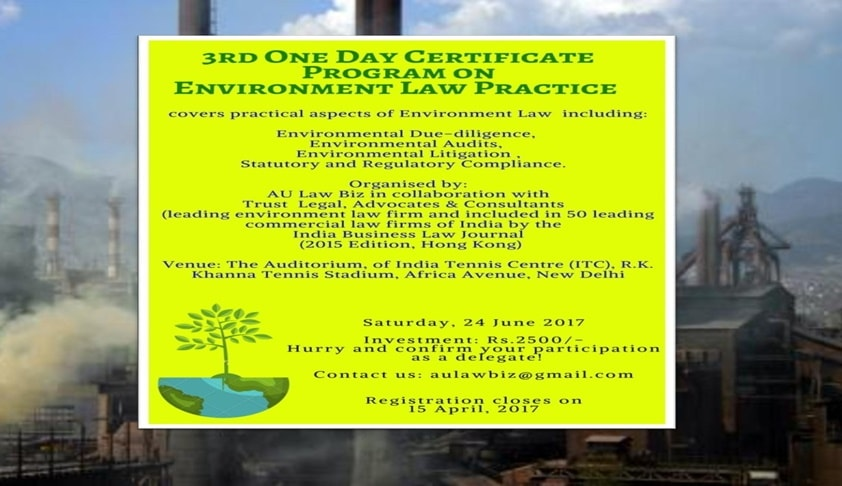 3rd One Day Certificate Program on Environmental Law