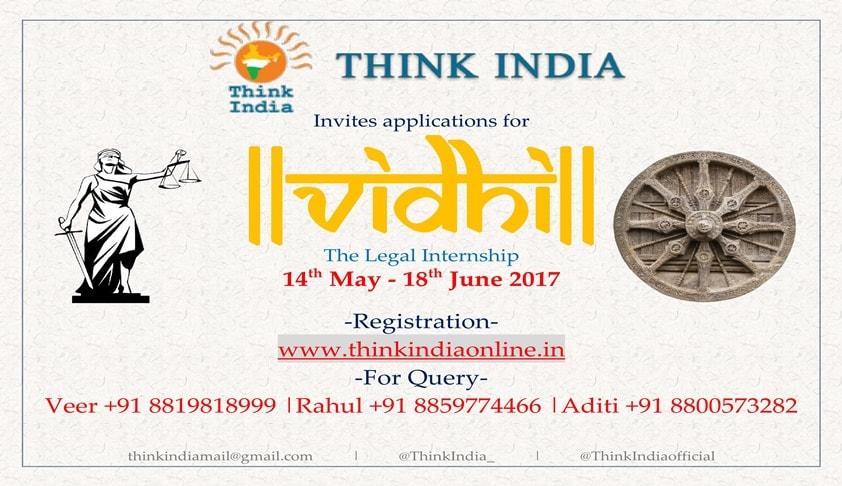 Internship Opportunity: Think India