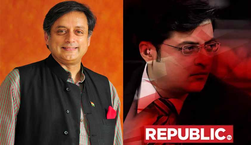 Delhi HC Asks Arnab Goswami, Republic TV To Respect Shashi Tharoor's Right To Silence [Read Petition]