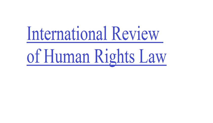 Call for Papers: International Review of Human Rights Law