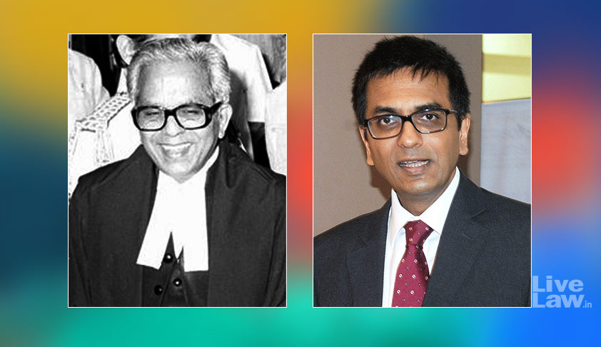 A Rare Moment In History: Justice D.Y.Chandrachud Overrules His Father's Judgment In ADM Jabalpur Case