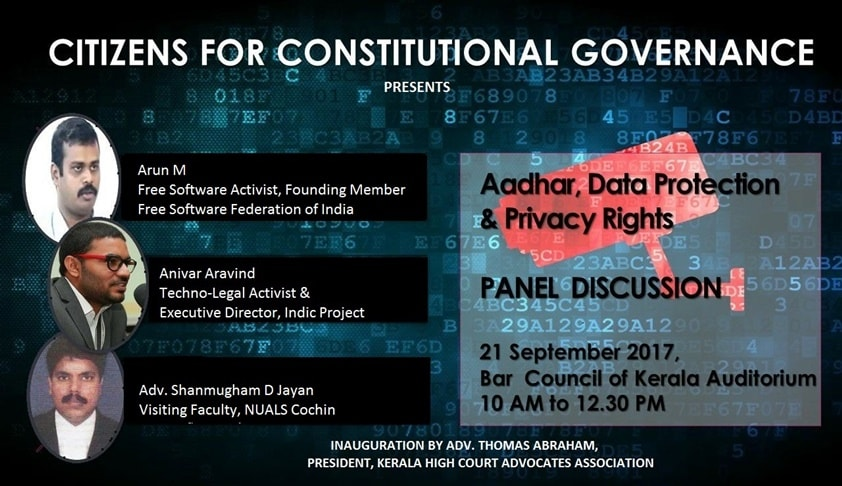 Panel Discussion on Aadhaar, Data Protection and Privacy Rights