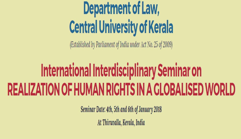 "Call For Papers:International Interdisciplinary Seminar On ""Realization Of Human Rights In A Globalised World"""