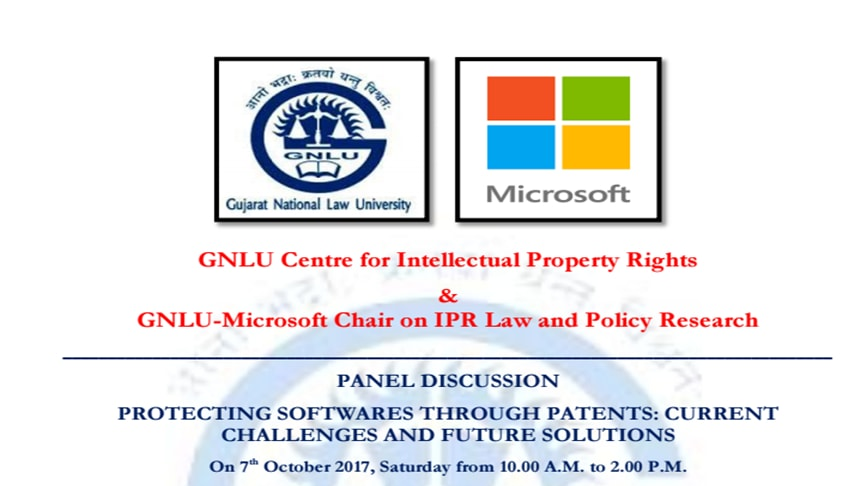 GNLU Panel Discussion On Protecting Software's Through Patents: Current Challenges And Future Solutions