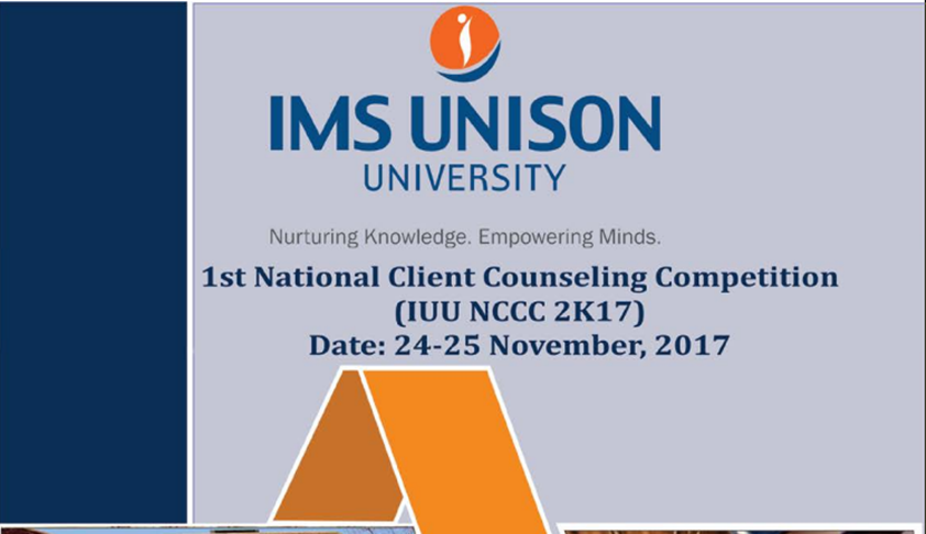 School of Law, IMS Unison University, Is Organizing National Client Counseling Competition, 2017