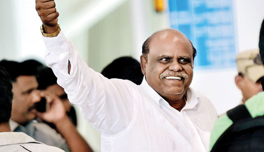 Justice Karnan Walks Free After Serving 6-Month Jail Term For Contempt