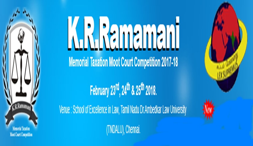 The K.R.Ramamani Memorial Taxation National Moot Competition, 2018