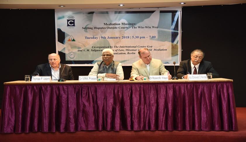 Prelude to Lex Infinitum 2018: VM Salgaocar's Mediation Musings Resonates in Goa