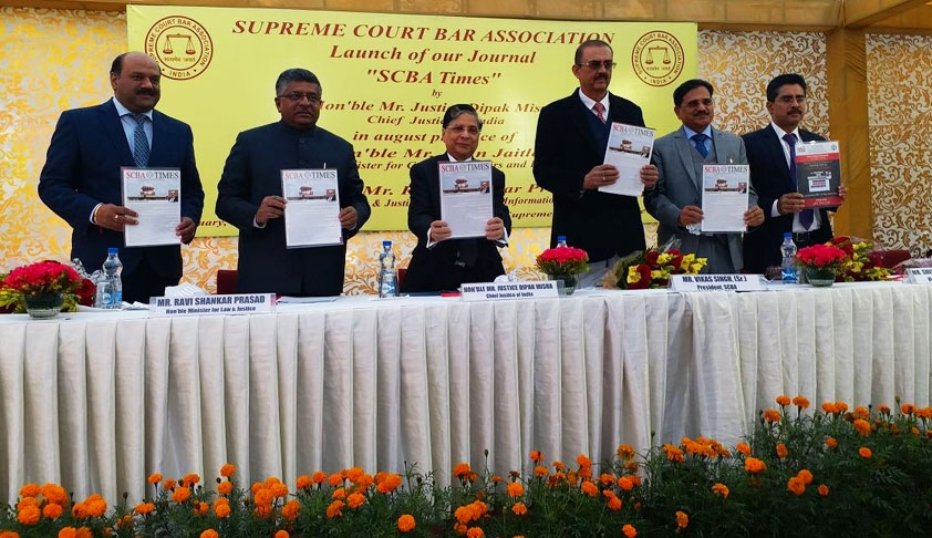 "Launch Of Journal ""SCBA Times""- Law Minister Ravi Shankar Prasad Roots For Simultaneous Elections"