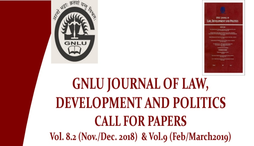 Call for Papers: GNLU Journal of Law, Development and Politics