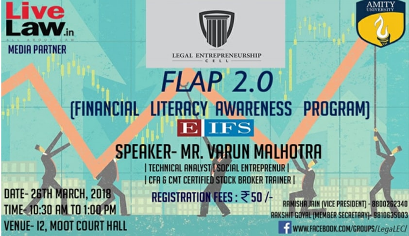 Amity Law School Noida's Financial Literacy Awareness Program [26th Mar]