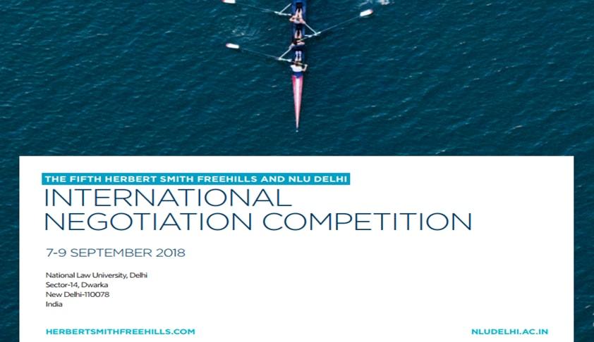 HSF–NLU Delhi, International Negotiation Competition 2018 [7th-9th Sept; New Delhi]