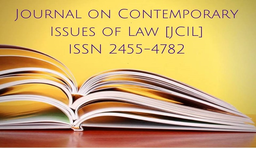 Call For Papers: Journal On Contemporary Issues Of Law (JICL) [Volume 4, Issue 4]