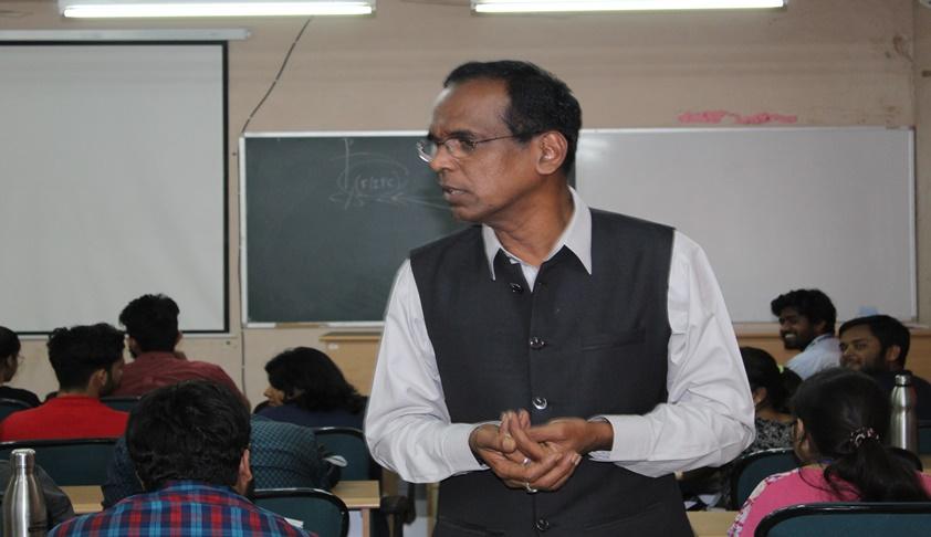 Prof Tamma Suryanarayana Sastry Delivers Lecture at MNLU Aurangabad