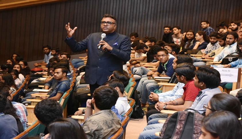 JGU VC Prof. Rajkumar Delivers Lecture at ILNU on Combating Corruption