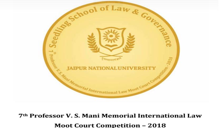 7th Prof VS Mani Memorial International Law Moot [5th to 7th Oct; Jaipur]